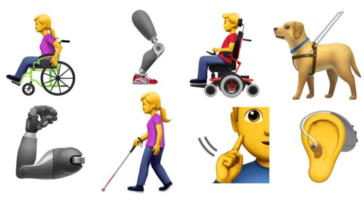 Algunes de les emoticones que Apple proposa. Apple (Unicode)